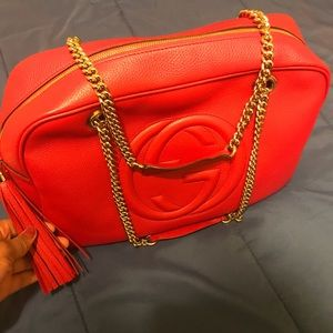 Gucci Bags - Gucci Pebbled Calfskin Medium Soho Chain Bag